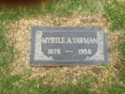 Myrtle Arminta <I>Snider</I> Yawman
