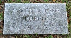 Carrie Belle <I>Parker</I> Morrison