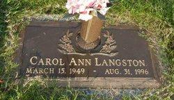 Carol Ann <I>Smith</I> Langston