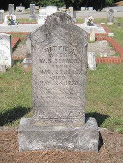 """Martha Ann """"Mattie"""" <I>Jones</I> Bonner"""