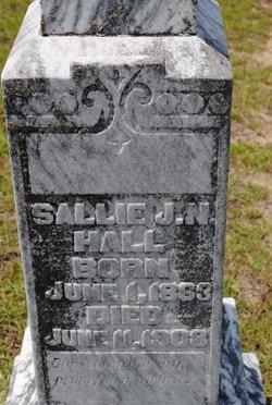 """Sarah James Newton """"Sallie"""" <I>Hobby</I> Hall"""