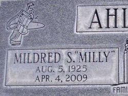 "Mildred S ""Milly"" Ahlstrom"