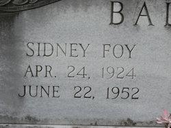 Sidney Foy Ballard