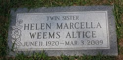 Helen Marcella <I>Weems</I> Altice