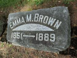 Emma M <I>Cloninger</I> Brown