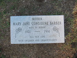 Mary Jane <I>Considine</I> Barber