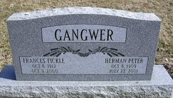 Frances <I>Fickle</I> Gangwer
