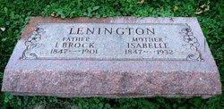 Isabelle <I>Sedgwick</I> Lenington