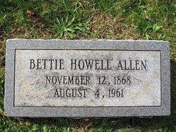 "Elizabeth ""Betty"" <I>Howell</I> Allen"