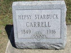 "Hepzibah Jane ""Hepsy"" <I>Starbuck</I> Carrell"