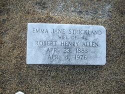 Emma Jane <I>Strickland</I> Allen