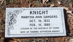 Martha Ann <I>Sanders</I> Knight