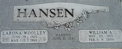 Larona <I>Woolley</I> Hansen