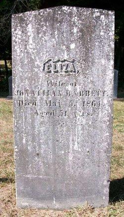 "Elizabeth ""Eliza"" <I>Towne</I> Babbett"