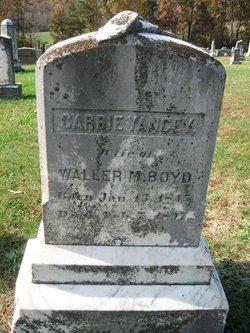"""Caroline """"Carrie"""" <I>Yancey</I> Boyd"""