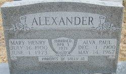 Mary Ray <I>Henry</I> Alexander