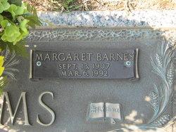 Margaret <I>Barnes</I> Adams