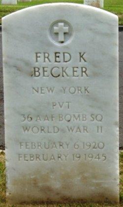 PVT Fred K Becker