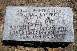 "Sarah Worthington ""Sallie"" <I>Kincheloe</I> Campbell"