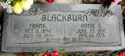 Annie Louise <I>Staker</I> Blackburn