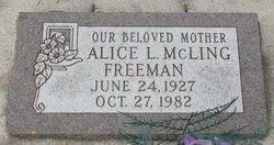 Alice Laverne <I>McLing</I> Freeman