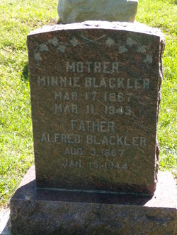 "Mary Ann ""Minnie"" <I>Martin</I> Blackler"
