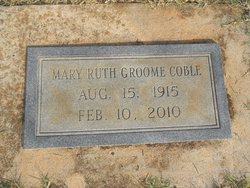Mary Ruth <I>Groome</I> Coble