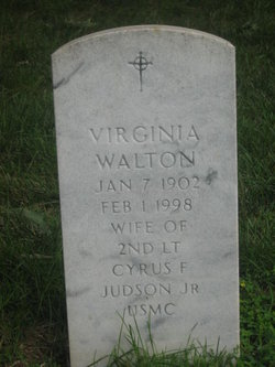 Virginia Walton <I>Needham</I> Judson