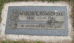Margie Lucille <I>McGee</I> Komlofske