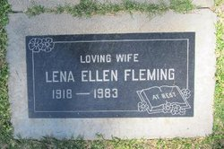 Lena Ellen <I>Webb</I> Fleming