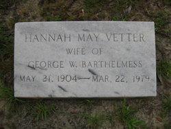 Hanna Mae <I>Vetter</I> Barthelmess