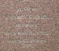 Frances <I>Bolton</I> Haigh