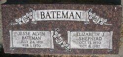 Elizabeth Jane <I>Shepherd</I> Bateman