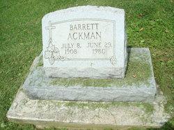 "Barrett ""Buck"" Ackman"