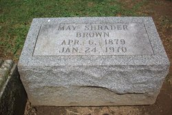May <I>Shrader</I> Brown