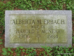 Alberta May <I>Erbach</I> McNear