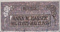Anna Magdelena <I>Rasmussen</I> Hansen