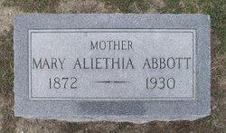 Mary Aliethia <I>Isgett</I> Abbott