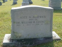 Alice Margaret <I>Bostwick</I> Councill