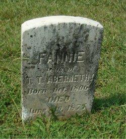 "Frances ""Fannie"" <I>Whitener</I> Abernethy"