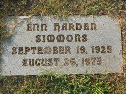Ann <I>Harden</I> Simmons