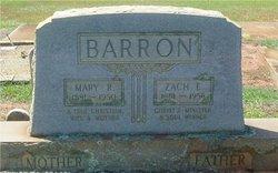 Mary <I>Rucker</I> Barron