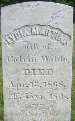 Lydia <I>Martin</I> Waldo