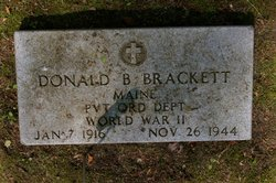 Pvt Donald B. Brackett