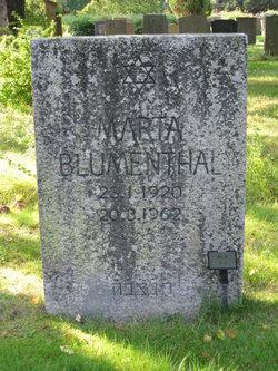 Marta Eva <I>Bluschtajn</I> Blumenthal