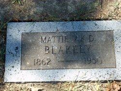 Mattie Victor Kenney <I>Dodge</I> Blakely