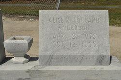 Alice M. <I>Holland</I> Anderson