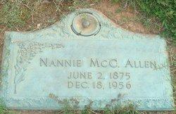 Nannie E. <I>McCall</I> Allen