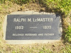 Ralph M. LeMaster