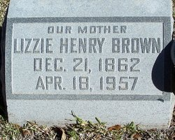 Lizzie <I>Henry</I> Brown